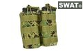 SWAT M4 MOLLE Open Top Double Magazine Pouch (AOR2)