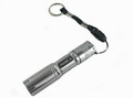 3W Police LED Flahlight with Key Ring Strap - Silver