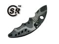 "CSR SR218C 5.75"" Black Tiger Stripe Steel Fold Military Knife"