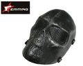 eAiming Skeleton ARMY OF TWO Plastic Full Face Mask (BK/SI)