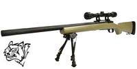 Snow Wolf M24 Air-cocking Bolt action Sniper(Military Type ,Tan)