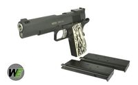 WE Metal M1911 Type C GBB Pistol with marking (2 Mags, Black)