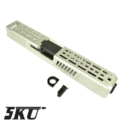 5KU CNC Metal Slide & Barrel Kit For Marui G17 GBB -Type4/ Silve