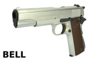 BELL Metal M1911A1 GBB Pistol Marking Version (723, Silver)