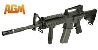 AGM M4 RIS Gas Blow Back Rifle with Extendable stock
