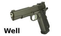 WELL Metal Double-stack 1911 CO2 GBB Pistol (Black)