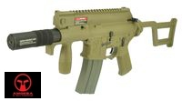 AMOEBA M4 Tactical Pistol SD AEG w/ folding stock (AM006, DE)