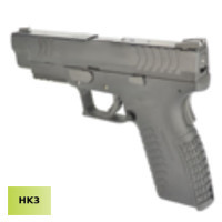 HK3 Steel Slide XDM .40 4.5 GBB Pistol with marking - Black