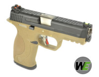 WE BB FORCE T4 A style pistol (BK Slide/SV Barrel/TAN Frame)