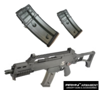 Army R36C Assault Rifle GBB (Black) with 2 Magazines
