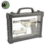 WE P38 GBB Pistol with LED Carry Case (Silver)