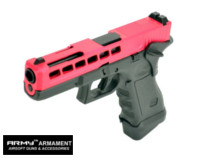 Army CNC Metal Slide G17 K Style GBB Pistol (Red)