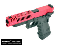 Army CNC Metal Slide G34 D Style GBB Pistol (Red)