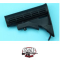 G&P 6 Position Sliding Buttstock for Marui GBB M4A1 (Black)