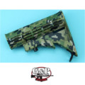 G&P 6 Position Buttstock for Marui GBB M4A1 (Jungle Pixel)