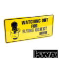 KWA DECO CAR - Watching Out for Flying Object Aluminum Plate