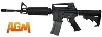 AGM M4A1 Gas Blow Back Rifle with Extendable stock