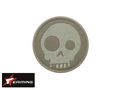 EAIMING Light Green Skeleton Embroidery Velcro Patch