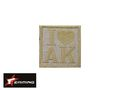 EAIMING I LOVE AK Embroidery Velcro Patch (TAN)