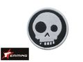 EAIMING White Skeleton Embroidery Velcro Patch