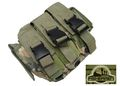 FISHERMEN Triple All Pistol Magazine Belt Pouches Bag (Multicam)