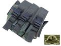 FISHERMEN Triple All Pistol Magazine Belt Pouches Bag -Woodland