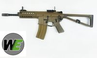 WE PDW M4 Gas Blow back Airsoft Rifle - DESERT