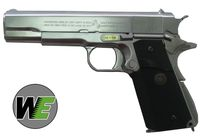 WE COLT 1911 Government  Full Metal GBB Pistol - Silver