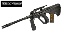 Army AUG Civilian Model AEG with Top Rail (R901, Black)