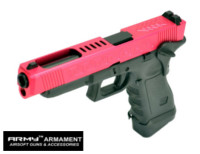 Army CNC Metal Slide G34 J Style GBB Pistol (Red)