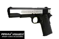 Army Metal M1911A1 GBB Pistol Marking Version (2 Tone)