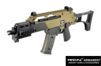 Army R36C Assault GBB Rifle (Tan Body and Black Accessories)