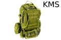 KMS MOLLE Assault Tactical Gear Backpack (Olive Drab)