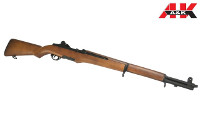 A&K Real Wood M1 Garand Full Auto AEG Rifle (Black)