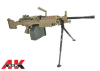 A&K Solid Gearbox FN M249 MKII SAW Light Machine Gun AEG - DE