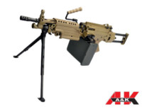 A&K FN M249 PARA Extendable Stock SAW Light Machine Gun AEG - DE