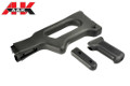 A&K Stock, Grip And Handle For PKM AEG LMG (Black)