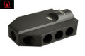 AMOEBA Metal Muzzle Brake Type D For AS-01 Spring Sniper Rifle