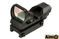 AIMO Multi-Recticle(Dot/Cross/Star) Red/Green Dot Sight (Black)