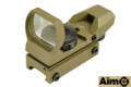 AIMO Multi-Recticle(Dot/Cross/Star) Red/Green Dot Sight (DE)