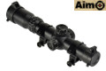 Aimo 1-4x24SE R/G Reticle CQB Rifle Scope (Black)
