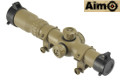 Aimo 1-4x24SE R/G Reticle CQB Rifle Scope (Dark Earth)