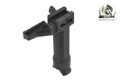 BATTLEAXE Quick Spring Release Single Rail Bipod Grip (Black, B)