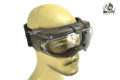 BATTLEAXE Electric Fan Goggle (Transparent Lens, Olive Drab)