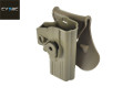 CYTAC Quick Draw Holster For WE/Marui/KJ G series Pistol (FDE)