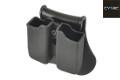 CYTAC Double G Series Magazine Pouch w/ Paddle & Belt Loop (BK)