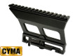 CYMA Aluminum 20mm Rail QD Scope Mount For AK Series (Black)