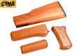 CYMA Real Wood Handguard, Grip & Stock For AK47 AEG Rifle