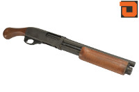 Dominator Steel/Real Wood Sawed-Off M870 Shell Eject Gas Shotgun
