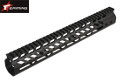 "EAIMING Metal GUNTEC Style 13"" M-LOK Handguard For M4 AEG (BK)"